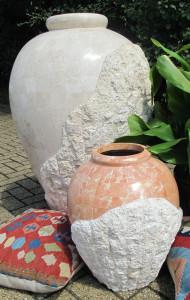 fossils handmade coral jars