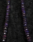 Wearing crystals: Sugilite Necklace
