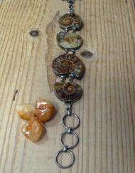 wearing crystals Ammonite Silver Bracelet