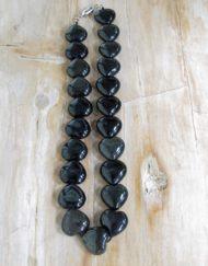 obsidian heart necklace