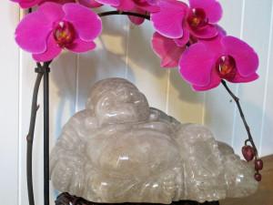 Celebrities Houses rutilated quartz buddha