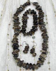 smokey quartz jewellery set 3 piece