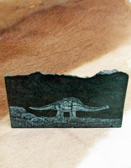 dinosaur etched on verdite