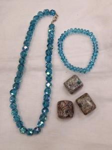 aqua aura set with K2 stone