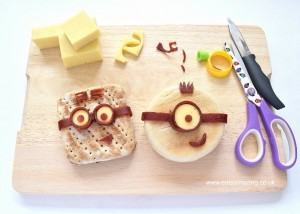 Cooking with kids: Eats Amazing, Minion Sandwiches