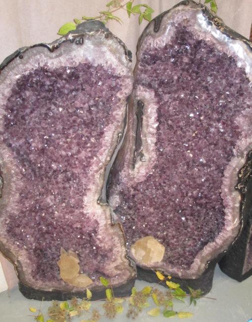 Amethyst Geode Giant Pair
