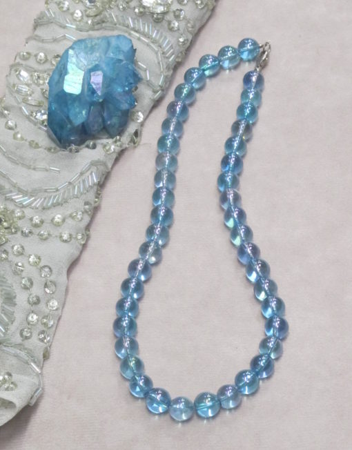 Aqua Aura Bead Necklace