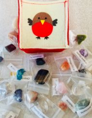 Gemstone Advent Calendar in Robin Bag