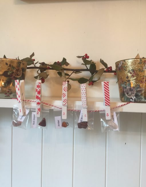 Advent Calendar with Pegs Hanging