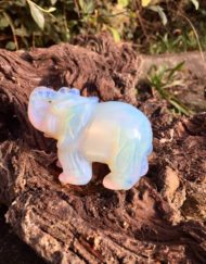 Elephant Carving Opalite