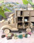 Gemstone Advent Calendar, Santa Truck, close up